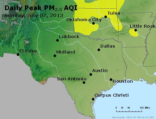 Peak Particles PM2.5 (24-hour) - https://files.airnowtech.org/airnow/2013/20130707/peak_pm25_tx_ok.jpg