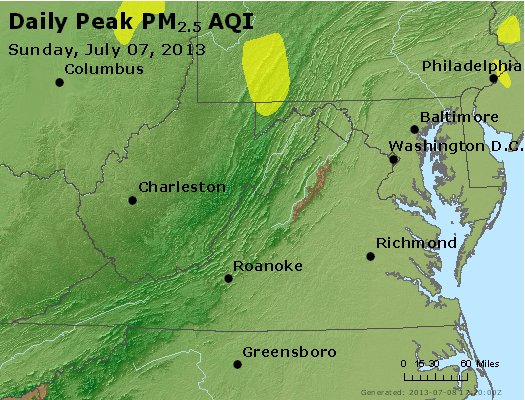 Peak Particles PM2.5 (24-hour) - https://files.airnowtech.org/airnow/2013/20130707/peak_pm25_va_wv_md_de_dc.jpg