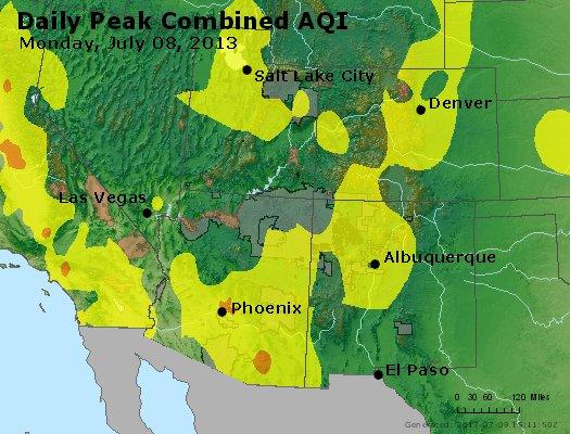 Peak AQI - https://files.airnowtech.org/airnow/2013/20130708/peak_aqi_co_ut_az_nm.jpg