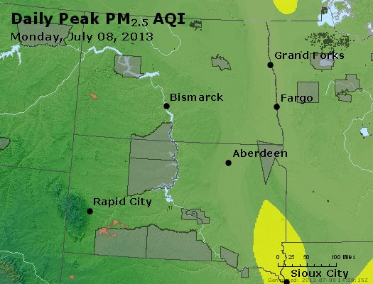 Peak Particles PM2.5 (24-hour) - https://files.airnowtech.org/airnow/2013/20130708/peak_pm25_nd_sd.jpg
