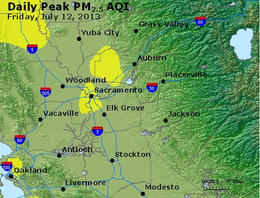Peak Particles PM<sub>2.5</sub> (24-hour) - https://files.airnowtech.org/airnow/2013/20130712/peak_pm25_sacramento_ca.jpg