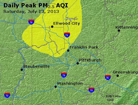 Peak Particles PM<sub>2.5</sub> (24-hour) - https://files.airnowtech.org/airnow/2013/20130713/peak_pm25_pittsburgh_pa.jpg