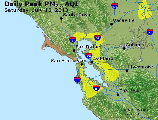 Peak Particles PM<sub>2.5</sub> (24-hour) - https://files.airnowtech.org/airnow/2013/20130713/peak_pm25_sanfrancisco_ca.jpg