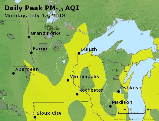 Peak Particles PM2.5 (24-hour) - https://files.airnowtech.org/airnow/2013/20130715/peak_pm25_mn_wi.jpg