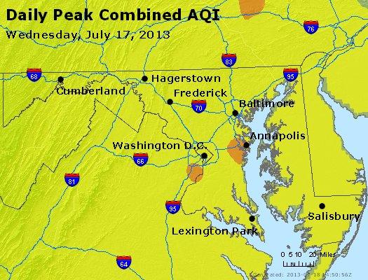 Peak AQI - https://files.airnowtech.org/airnow/2013/20130717/peak_aqi_maryland.jpg