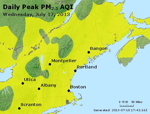 Peak Particles PM<sub>2.5</sub> (24-hour) - https://files.airnowtech.org/airnow/2013/20130717/peak_pm25_vt_nh_ma_ct_ri_me.jpg