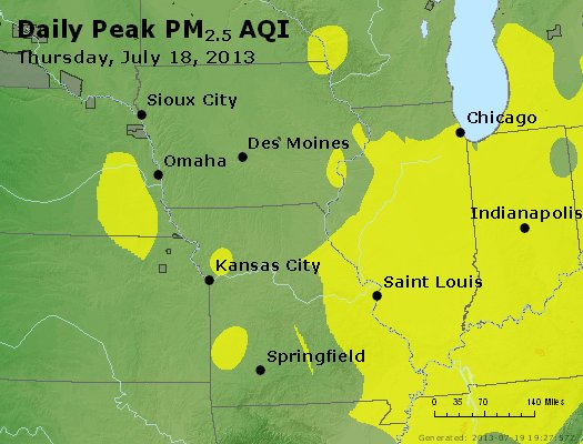 Peak Particles PM<sub>2.5</sub> (24-hour) - https://files.airnowtech.org/airnow/2013/20130718/peak_pm25_ia_il_mo.jpg