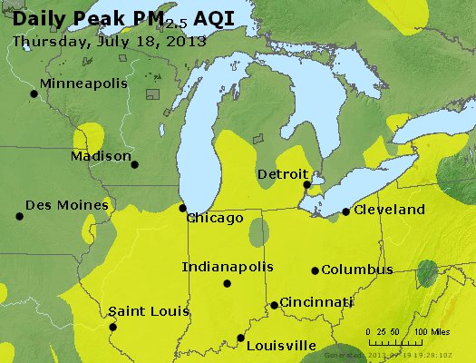 Peak Particles PM<sub>2.5</sub> (24-hour) - https://files.airnowtech.org/airnow/2013/20130718/peak_pm25_mi_in_oh.jpg