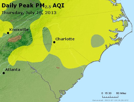 Peak Particles PM2.5 (24-hour) - https://files.airnowtech.org/airnow/2013/20130718/peak_pm25_nc_sc.jpg