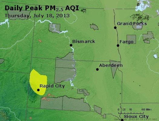 Peak Particles PM2.5 (24-hour) - https://files.airnowtech.org/airnow/2013/20130718/peak_pm25_nd_sd.jpg