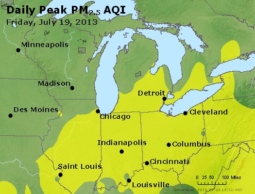 Peak Particles PM<sub>2.5</sub> (24-hour) - https://files.airnowtech.org/airnow/2013/20130719/peak_pm25_mi_in_oh.jpg