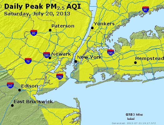 Peak Particles PM<sub>2.5</sub> (24-hour) - https://files.airnowtech.org/airnow/2013/20130720/peak_pm25_newyork_ny.jpg