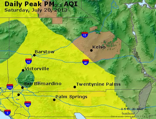 Peak Particles PM<sub>2.5</sub> (24-hour) - https://files.airnowtech.org/airnow/2013/20130720/peak_pm25_sanbernardino_ca.jpg