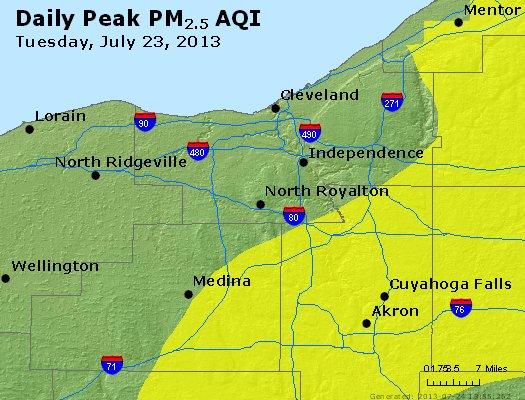 Peak Particles PM2.5 (24-hour) - https://files.airnowtech.org/airnow/2013/20130723/peak_pm25_cleveland_oh.jpg