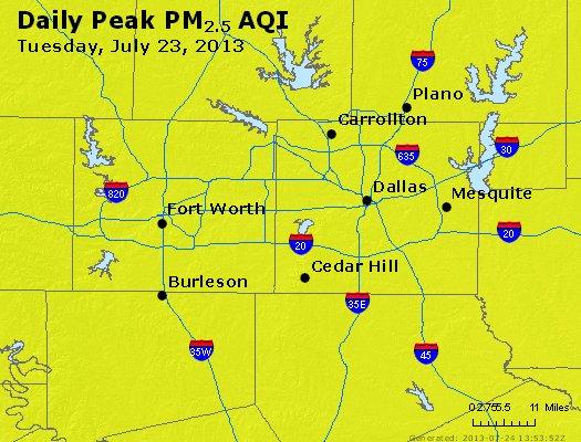 Peak Particles PM2.5 (24-hour) - https://files.airnowtech.org/airnow/2013/20130723/peak_pm25_dallas_tx.jpg