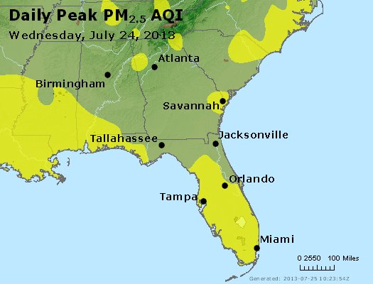 Peak Particles PM2.5 (24-hour) - https://files.airnowtech.org/airnow/2013/20130724/peak_pm25_al_ga_fl.jpg