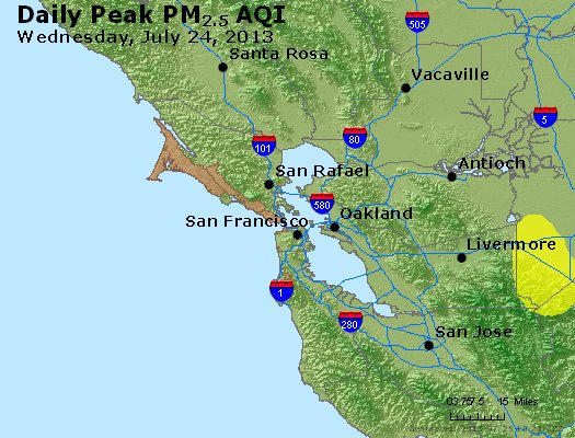 Peak Particles PM<sub>2.5</sub> (24-hour) - https://files.airnowtech.org/airnow/2013/20130724/peak_pm25_sanfrancisco_ca.jpg