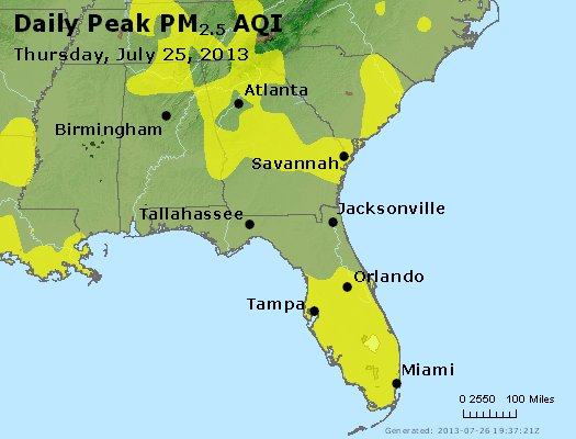 Peak Particles PM2.5 (24-hour) - https://files.airnowtech.org/airnow/2013/20130725/peak_pm25_al_ga_fl.jpg