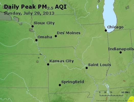 Peak Particles PM<sub>2.5</sub> (24-hour) - https://files.airnowtech.org/airnow/2013/20130728/peak_pm25_ia_il_mo.jpg