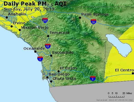 Peak Particles PM<sub>2.5</sub> (24-hour) - https://files.airnowtech.org/airnow/2013/20130728/peak_pm25_sandiego_ca.jpg