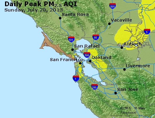 Peak Particles PM<sub>2.5</sub> (24-hour) - https://files.airnowtech.org/airnow/2013/20130728/peak_pm25_sanfrancisco_ca.jpg