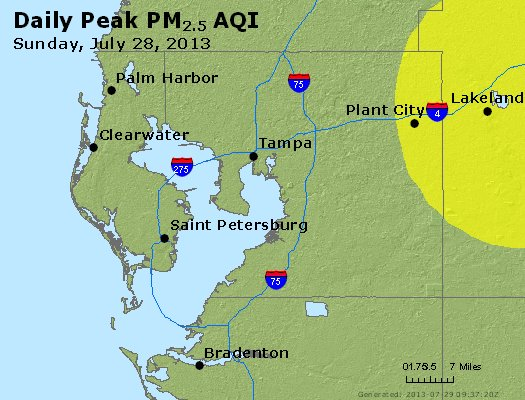 Peak Particles PM<sub>2.5</sub> (24-hour) - https://files.airnowtech.org/airnow/2013/20130728/peak_pm25_tampa_fl.jpg