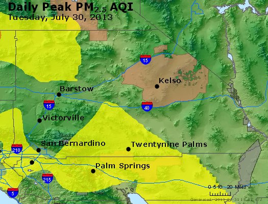 Peak Particles PM<sub>2.5</sub> (24-hour) - https://files.airnowtech.org/airnow/2013/20130730/peak_pm25_sanbernardino_ca.jpg