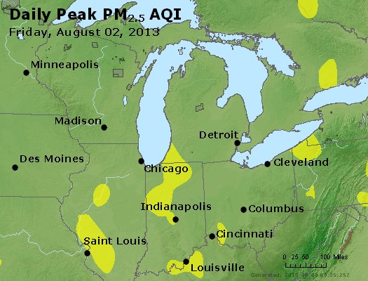 Peak Particles PM<sub>2.5</sub> (24-hour) - https://files.airnowtech.org/airnow/2013/20130802/peak_pm25_mi_in_oh.jpg