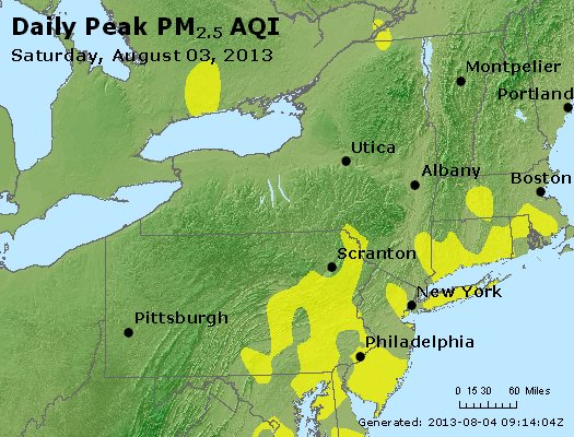 Peak Particles PM<sub>2.5</sub> (24-hour) - https://files.airnowtech.org/airnow/2013/20130803/peak_pm25_ny_pa_nj.jpg