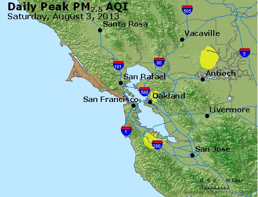 Peak Particles PM<sub>2.5</sub> (24-hour) - https://files.airnowtech.org/airnow/2013/20130803/peak_pm25_sanfrancisco_ca.jpg
