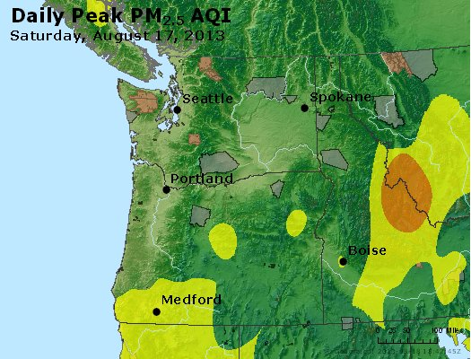 Peak Particles PM2.5 (24-hour) - https://files.airnowtech.org/airnow/2013/20130817/peak_pm25_wa_or.jpg