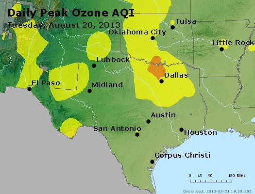 Peak Ozone (8-hour) - https://files.airnowtech.org/airnow/2013/20130820/peak_o3_tx_ok.jpg