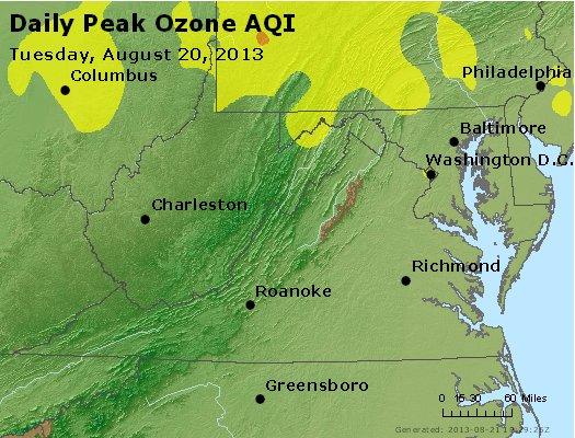 Peak Ozone (8-hour) - https://files.airnowtech.org/airnow/2013/20130820/peak_o3_va_wv_md_de_dc.jpg
