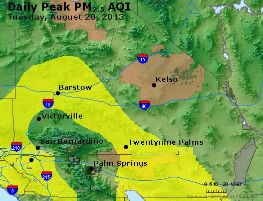 Peak Particles PM<sub>2.5</sub> (24-hour) - https://files.airnowtech.org/airnow/2013/20130820/peak_pm25_sanbernardino_ca.jpg