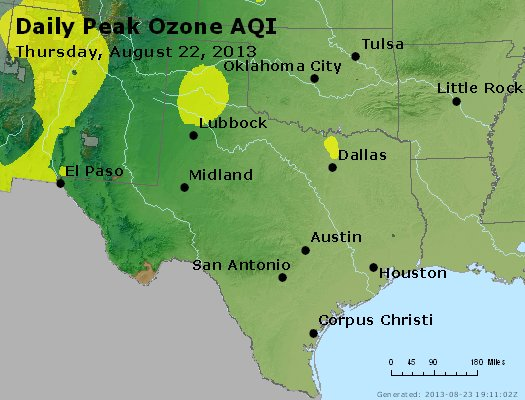 Peak Ozone (8-hour) - https://files.airnowtech.org/airnow/2013/20130822/peak_o3_tx_ok.jpg