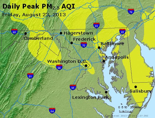 Peak Particles PM2.5 (24-hour) - https://files.airnowtech.org/airnow/2013/20130823/peak_pm25_maryland.jpg
