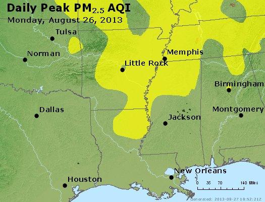 Peak Particles PM2.5 (24-hour) - https://files.airnowtech.org/airnow/2013/20130826/peak_pm25_ar_la_ms.jpg