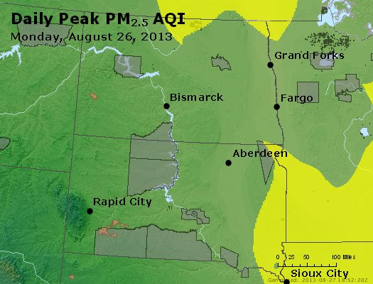 Peak Particles PM2.5 (24-hour) - https://files.airnowtech.org/airnow/2013/20130826/peak_pm25_nd_sd.jpg