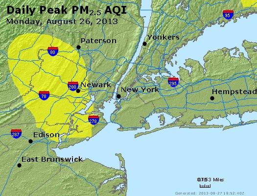 Peak Particles PM<sub>2.5</sub> (24-hour) - https://files.airnowtech.org/airnow/2013/20130826/peak_pm25_newyork_ny.jpg