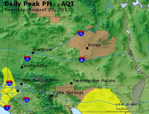 Peak Particles PM<sub>2.5</sub> (24-hour) - https://files.airnowtech.org/airnow/2013/20130827/peak_pm25_sanbernardino_ca.jpg