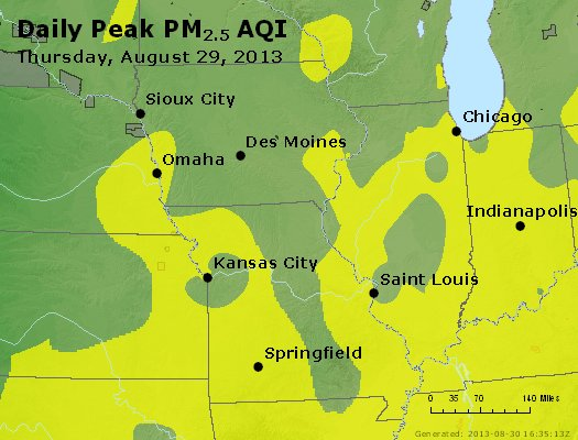 Peak Particles PM<sub>2.5</sub> (24-hour) - https://files.airnowtech.org/airnow/2013/20130829/peak_pm25_ia_il_mo.jpg