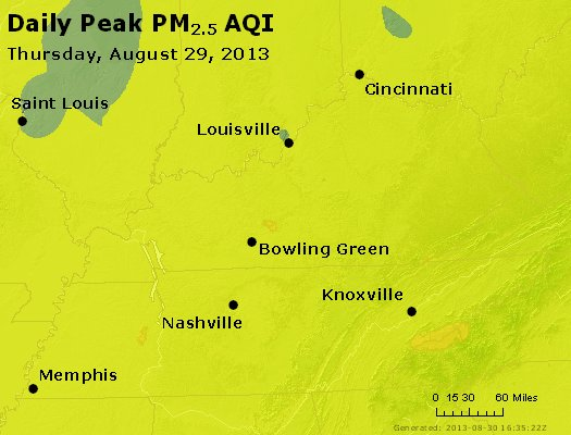Peak Particles PM<sub>2.5</sub> (24-hour) - https://files.airnowtech.org/airnow/2013/20130829/peak_pm25_ky_tn.jpg