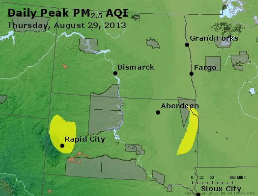 Peak Particles PM2.5 (24-hour) - https://files.airnowtech.org/airnow/2013/20130829/peak_pm25_nd_sd.jpg