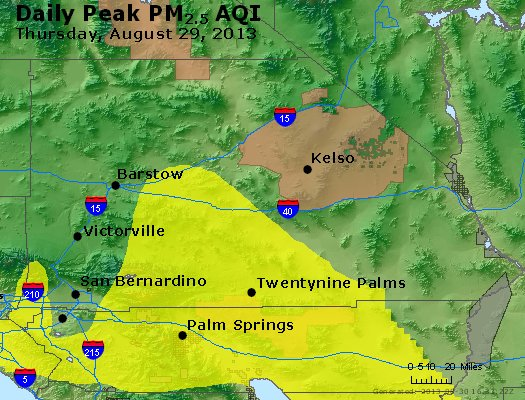 Peak Particles PM<sub>2.5</sub> (24-hour) - https://files.airnowtech.org/airnow/2013/20130829/peak_pm25_sanbernardino_ca.jpg