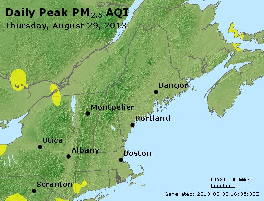 Peak Particles PM<sub>2.5</sub> (24-hour) - https://files.airnowtech.org/airnow/2013/20130829/peak_pm25_vt_nh_ma_ct_ri_me.jpg