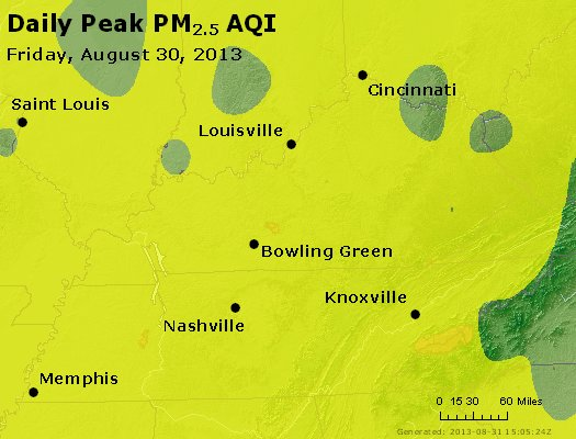 Peak Particles PM<sub>2.5</sub> (24-hour) - https://files.airnowtech.org/airnow/2013/20130830/peak_pm25_ky_tn.jpg