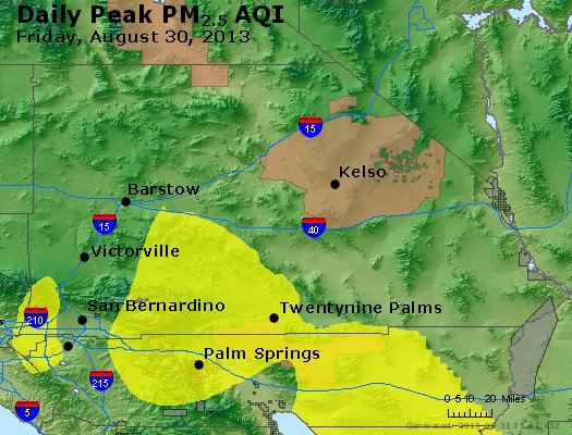 Peak Particles PM<sub>2.5</sub> (24-hour) - https://files.airnowtech.org/airnow/2013/20130830/peak_pm25_sanbernardino_ca.jpg