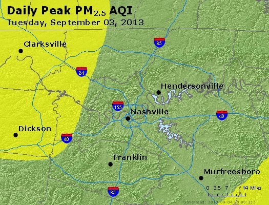 Peak Particles PM<sub>2.5</sub> (24-hour) - https://files.airnowtech.org/airnow/2013/20130903/peak_pm25_nashville_tn.jpg