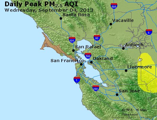 Peak Particles PM<sub>2.5</sub> (24-hour) - https://files.airnowtech.org/airnow/2013/20130904/peak_pm25_sanfrancisco_ca.jpg