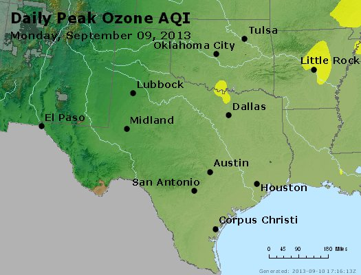 Peak Ozone (8-hour) - https://files.airnowtech.org/airnow/2013/20130909/peak_o3_tx_ok.jpg